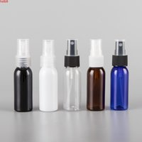 30ML X 50 Black Blue Transparent Brown White Small plastic Spray Bottles 30CC Empty Perfumes PET Bottle Travel Containerhigh qty