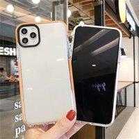 Custodie per cellulari a due colori creativi per iPhone 12 11 Pro Max Mini XS X XR 6 6S 7 8 PLUS Personality Anti-Drop Copertura protettiva in silicone