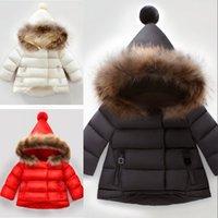 Cappotti per bambini Ragazzi e ragazze Cappotti invernali Cappotti per bambini Felpe con cappuccio Giacche per bambini Bambini Outwear Bambini 3 colori 1-6T Baby Hot venduto. 698 x2.