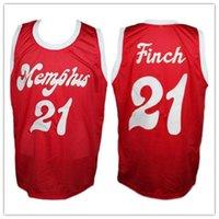 Kundenspezifische Vintage Larry Finch Red Sounds Retro 1972-74 Home Basketball Jersey Benutzerdefinierte Namensnummer Jerseys genäht S-5XL
