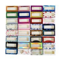 Eyelash Box with Window Heart Glitter False Eyelash Packaging Box Reusable Paper Eyelash Storage Box Lash Case for Women