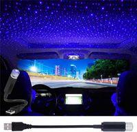 Мини-светодиодные эффекты USB Star Projector Night Light автомобиль крыши крыши портативный регулируемый романтический фиолетовый атмосфера Galaxy внутренняя лампа