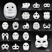 Makyaj Dans Beyaz Maskeleri Embriyo Kalıp Boyama El Yapımı Maske Hamuru Hayvan Cadılar Bayramı Festivali Parti Maskeleri Beyaz Kağıt Yüz Maskesi CCB9857