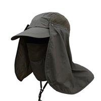 Cappelli da esterno Cappelli da pesca Caps uomo Donne Tactical Hat Cappello tattico Quick Dry Sunshade Protezione UV Sole solido con cinturino Chin Stringa SportSwea