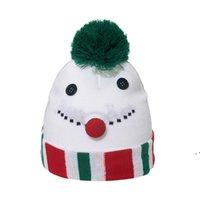 Noel Pullu Santa Örme Şapka Kış Sıcak Püskül Topu Uzun Eşarp Karikatür Ren Geyiği Erkek Kız Kap EWD10620