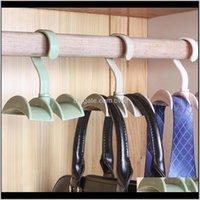 Holders Racks Housekeeping Organization Home & Garden Drop Delivery 2021 2Pcs 360 Degree Rotatable Wardrobe Hanger Tie Rack Bag Hook Belt Sto