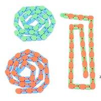 체인 엉뚱한 트랙 스냅 클릭 Fidget Toys 안티 스트레스 키즈 자폐증 뱀 퍼즐 클래식 감각 Antistress 장난감 DHE6102