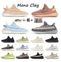 2021 كاني الأحذية الرماد الأزرق حجر اسرييل مونو الجليد الطين زيبرا كريم أبيض مارش الكتان الأسود ساكنة الاحذية العاكس الاحذية الرجال النساء أحذية رياضية المدربين