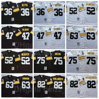 NCAA Vintage Football 36 Jerome Bettis Jersey Retro 47 Mel Blount 52 Mike Webster 63 Dermonti Dawson 75 Joe Greene 82 John Stallworth