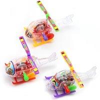 새로운 재미있는 미니 권선 투명 작은 항공기 봄 장난감 고전 야외 시계 공사 항공기 바람 위로 장난감 선물 7 754 x2