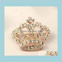 Broches broches bijoux vêtements décoratifs cristal pour femme mariage mariée brillant strass broche robe broche goutte drop livraison 2021 p