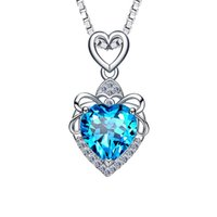 Fashion Heart Love Shaped Sterling Pendant Necklace Jewelry Charm Brand Necklace Design For Women Fine Jewelry 211014