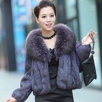 Women's Fur & Faux 2021 Woman Winter Real Coat Female High Waist Fashion Slim Solid Color Jacket Coats Ladies Plush Outerwear Q282