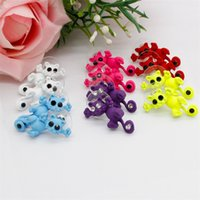 Moda carino gatto orecchini per borchie multicolor kitty borchie anime orecchino anelli di moda regalo 10 colori 759 T2