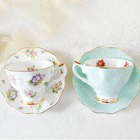 Cups & Saucers European Bone China Coffee Set Creative Simple Ceramic Circle Dish Afternoon Tea Milk Cup 200ml