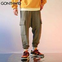 Gonthwid Multi-Pockets Joggers Harem Грузовые спортивные штаны Hip Hop Harajuku повседневные мешковатые поты штаны мужские моды брюки мужские 210629