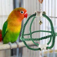 Petit animal Fournitures Strong Perroque Perroquet Personnes suspendues Coller Bell Toy Swing Bird Swing Portable pour les oiseaux moyens