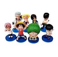Action Toy chiffres Choix physique King 8 Q-Version Big Head Cake Accessoires de gâteau Luffy Joe Bassoron Robin Poupée à la main Poupée à la main Toys décoratifs
