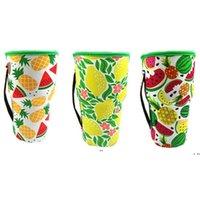 새로운 텀블러 컵 병 홀더 커버 Drinkware 가방 Neoprene 절연 슬리브 가방 해바라기 야구 아이스 커피 컵 물병 30oz EWD