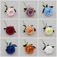 30 cm tek kafa şakayık gül sahte çiçek dekoratif yapay çiçekler dalları düğün parti dekorasyon aksesuarları ev dekor
