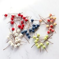 Decorative Flowers & Wreaths 100Pcs Bag Handmade Imitation Fruits Berries Artificial Christmas Wedding Party Decor Beautiful Ornamental Nice