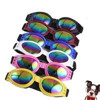 Dog Glasses Fashion Foldable Sunglasses Medium Large Dogs Glassess Big Pet Waterproof Eyewear Protection Goggles UV Sunglassess SN5438