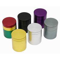 Mini kleine Neu4-Schichten Mini Niedlichen Metall-Tabak-Mahlwerk-Metall-Aluminiumlegierung trockener Kräuter-Rauch-Zubehör Hanf-Pfeffer-Pot-Gewürz-Mühlenschleifmaschinen