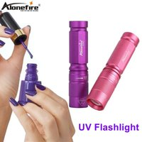 AloneFire SV001 365nm LED UV Light Torch Lamp Curing Travel El Safety Scorpion Money Detection AA Battery Flashlights Torches