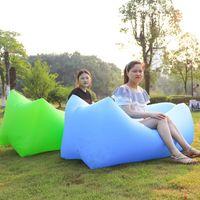 Sacs de couchage remplissant rapidement des canapés de sacs gonflables Canapé-lit paresseux Portable Adult Beach Lounge Chair d'étanchéité