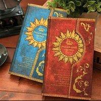 Vintage Retro Papel Cuaderno Diario Antiguo Libro Magic Libro Diario Bloc de notas para regalo Coreano Papelería Oficina Suministros Escolares 210611