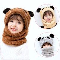 Bambino Cappello Boy Neonato Fotografia Puntelli Accessori Accessori Velvet per bambini Panda Panda Orecchie Ragazze Autunno Sciarpa calda Set Donne 2444 Q2