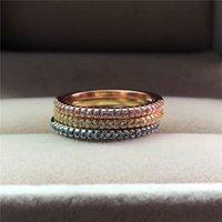 Süße Mode Kleine Kristall Stein Ring Weibliche Goldfarbe Stapelbare Ring Eheringe Versprechen Liebe Verlobungsringe Für Frauen Y0420