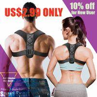 Clavicule ajustable Posture Correcteur Hommes Femmes Haute Haut Back Brace Bretelle Lumbare Support Beland Corset Correction Accessoires