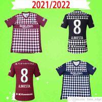 21 22 J1 League Vissel Soccer Janeiro Japão 2021 2022 Home Away Camisa de Futebol Top Uniformes Uniforme GOTOKU A.INIITA David Villa Podolski Samper Iniesta