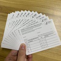 فارغة بطاقة التطعيم ورقة CDC مع 4 * 3 بوصة حامي للماء شفافة بولي كلوريد الفينيل الأكمام حامل