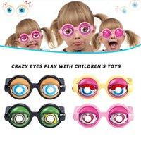 Crianças Festa Favor Engraçado Pranks Óculos Crazy Eyes Brinquedo Fontes Para Presente De Aniversário Novidade Plástica Brinquedos