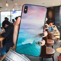 Custodie per telefoni cellulari Nuvole di inchiostro o colorato Oceans Glass per iPhone 12 11 Pro Promaxmin X XS max 7 8 Plus
