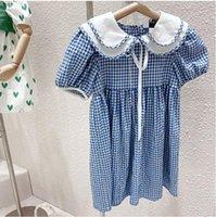 2021 الاطفال ملابس جميلة اللباس الحيوانات الأليفة عموم طوق قصيرة الأكمام منقوشة طباعة 100٪٪ فتاة الطفل أنيقة الأزياء