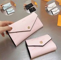 Classic Wallet With Buckle soft leather long Purse section t...