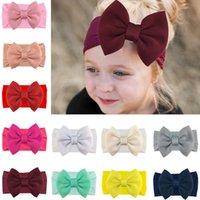 Baby Turban Bowknot Headband Girl Princess Hairbands super big Bow Knot Soft Headwraps Nylon M3668