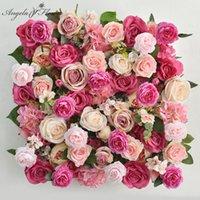 الزهور الزهور أكاليل مخصص الاصطناعي زهرة الجدار خلفية الزفاف ديكور الحرير وهمية الأزهار بو خلفية نافذة نافذة تخطيط حزب