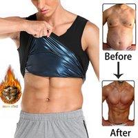 Men Polymer Sweat Sauna Vest Shaper Waist Trainer Slimming Women Tank Top Workout Shirt Weight Loss Body Shapewear
