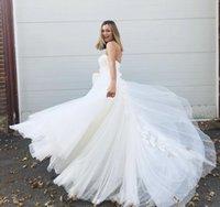 Gorgeous Design Big Skirt Boho Wedding Dresses Bridal Gowns Sweetheart Flower Patter Appliques Lace Bohemian A Line Vestido de Nova 2022 Spring