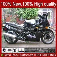 Kawasaki 닌자 ZX-11 R ZZR1100 ZX-11R ZZR 1100 CC ZX11 R ZZR 1100 CC ZX11 R ZZR 1100 CC ZX11 R ZZR-1100 CC ZX11 R ZZR 1100 CC ZX11 R ZZR-1100 30HC.26 광택 검은 ZX11R 90 91 92 93 94 95 ZX 11 R 11R 1996 1997 1998 1999 2000 2001 OEM 페어링