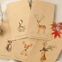 Gift Wrap 80pcs Cute Deer Kraft Bags DIY Wedding Christmas Party Candy Cookie Food Packaging Bag Paper Treat Wrapping Supplies