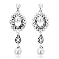 Dangle Earrings for Womens Fashion Rhinestone Pearl Jewelry Accessories Banquet Birthday Party Gift