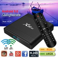 Android TV Box X96 Air avec Amlogic S905X3 Quad Core 4 + 64GB Support SmartTV Android9.0 BT WiFi