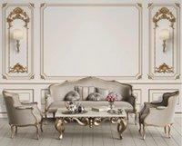 Wallpapers Custom 3D Po Wallpaper Bedroom Stereo Relief European Golden TV Background Wall Murals Living Room
