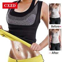 CXZD PLUS Размер S-6XL Женщины Женщины Неопреновая Образование Талией Тренер Талии Push Upp Vest Tooke Belly Body Shaper Cincher Corset