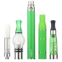 MOQ 1Pcs Authentic 4 in 1 Kit eGo Vaporizer Pens E Cigarette 650mAh 900mAh 1100mAh UGO T 510 Thread Battery With 4Pcs Atomizers